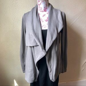 H by Bordeaux Asymmetrical Zipper Jacket M Grey